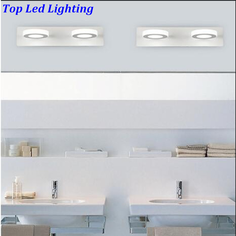 Modern Brief Acryl Led 6W Mirror Lights for Bathroom Aisle Waterproof IP65 Anti-fog Durable 2 heads Indoor Wall Lamp 1184 гель лак для ногтей sally hansen miracle gel 240 цвет 240 b girl variant hex name 79c8b8