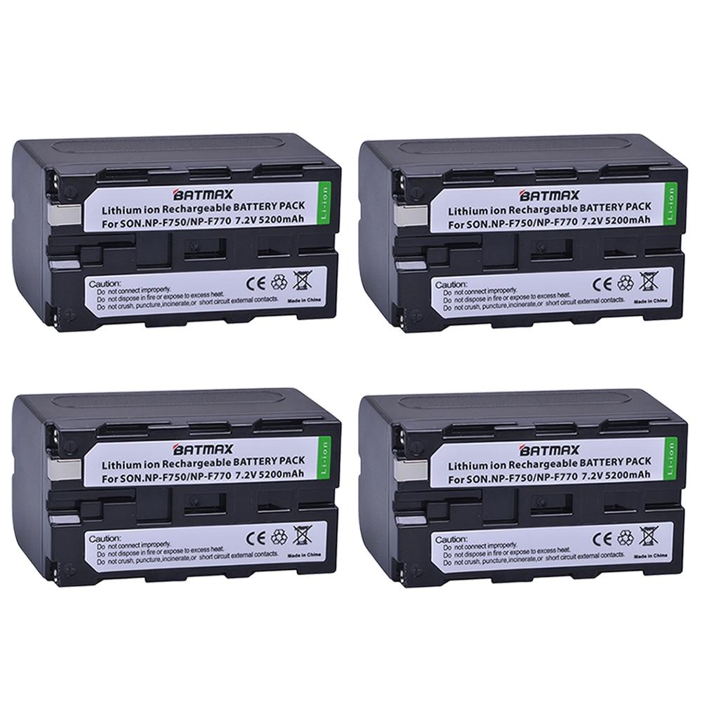 Batmax 4 pack Bateria NP-F750 NP-F770 NP F750 F770 Batteries pour Sony NP F970 F960 ccd-tr917 ccd-tr940 ccd-trv101 ccd-trv215