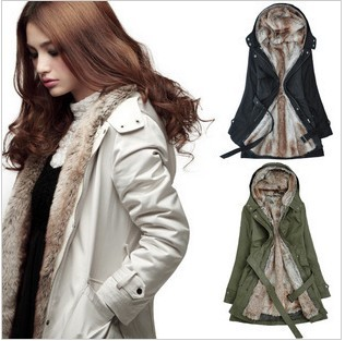 Discounts 2015 new winter coat ladies coat long section thick warm coat plush removable liner