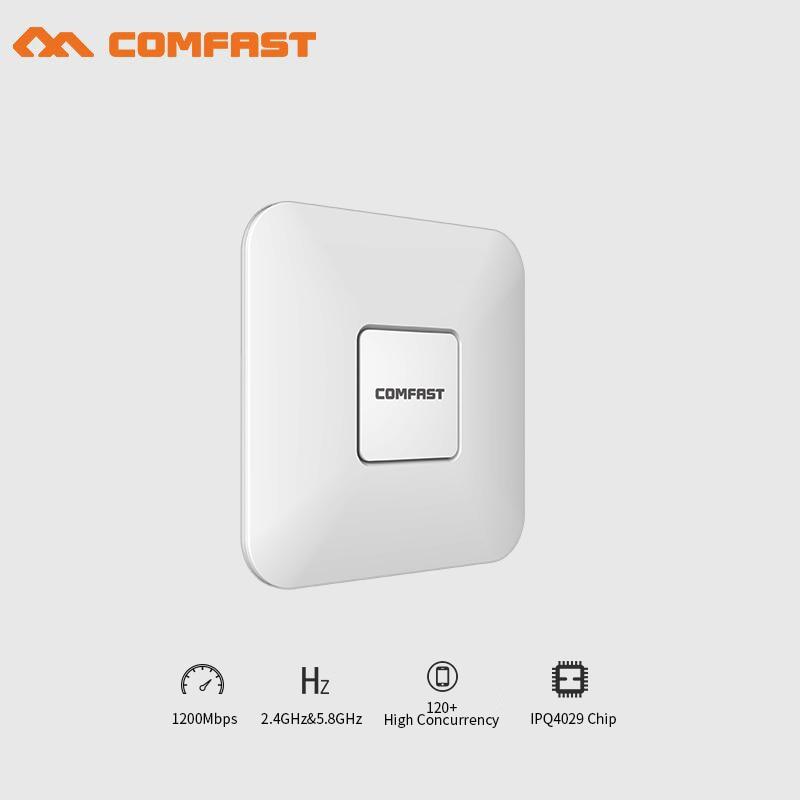 COMFAST CF-E370AC wireless indoor AP 1200M Ceiling AP openwrt 5.8Ghz WiFi Access Point AP gigabit wi fi router signal amplifier цена и фото