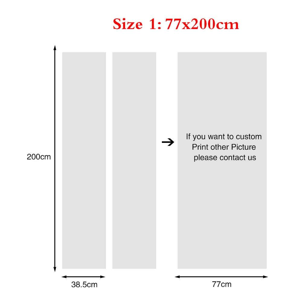 עצמי דבק 3d דלת מדבקת נוף פרחי בית תפאורה Waterproof הדפסי PVC פוסטר קיר אמנות תמונות חליפה לילדים חדר
