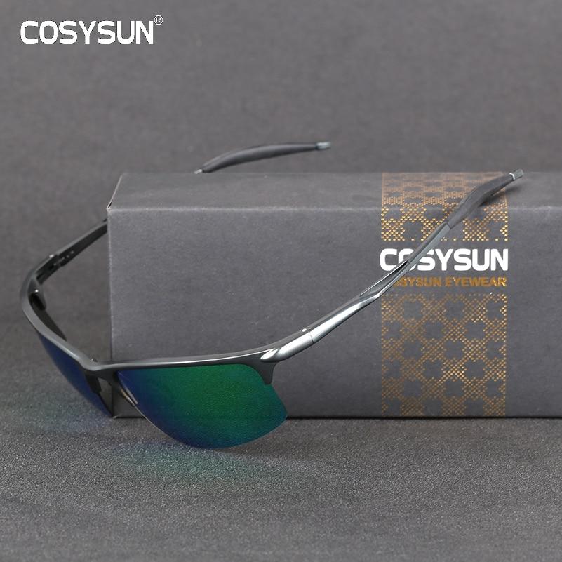 COSYSU Brand Polarized Sunglasses Men Brand Designer New Aluminum Glasses Driving UV400 Sunglasses Eyewear Goggles Oculos De Sol