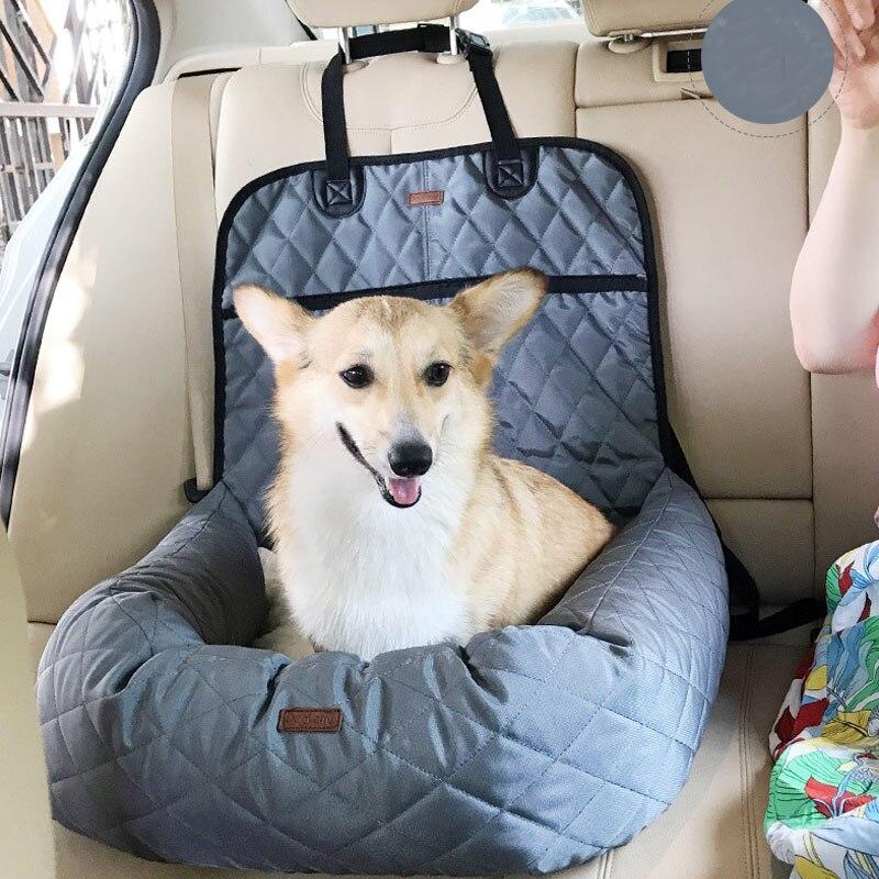 Многофункциональный питомец кровать собаки мягкий бустер Люкс автовоз авто спереди или сзади собака сиденье безопасности Чехол для хранения сумки