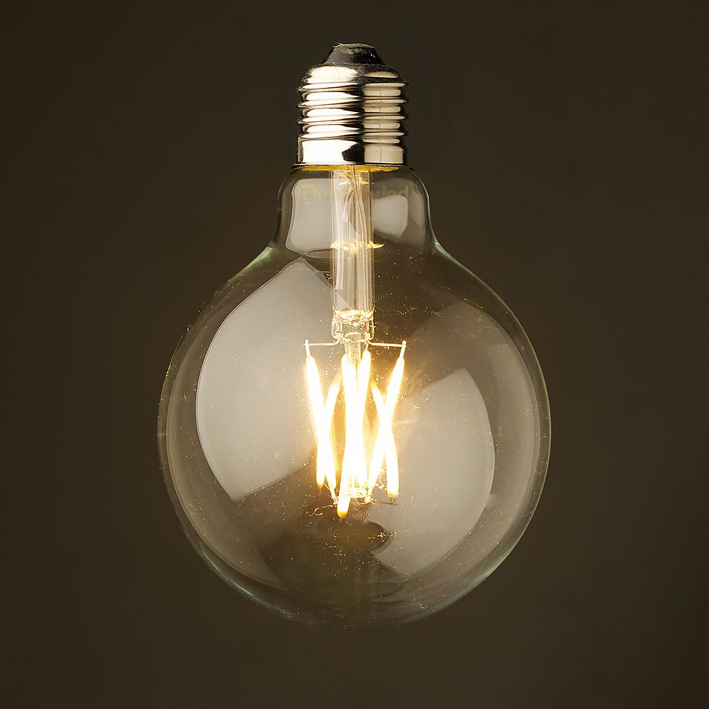 Vintage LED Filament Bulb, 4W 6W,G95 Globe Style,Warm White,Energy Saving,Decorative Lights,Dimmable