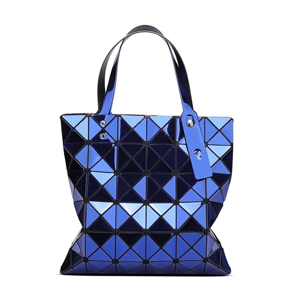 Luxury Holographic Handbags Sequins Mirror Shoulder Bag Fold Over Lattice Tote Bag Bolsa Feminina Mujer 2019 6*6 Top-handle BagLuxury Holographic Handbags Sequins Mirror Shoulder Bag Fold Over Lattice Tote Bag Bolsa Feminina Mujer 2019 6*6 Top-handle Bag