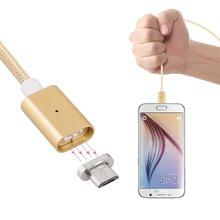 Detachable Magnetic Adapter Micro USB 3.3ft High Speed Charging Cable with LED Indicator for Android Samsung HTC LG Motorola
