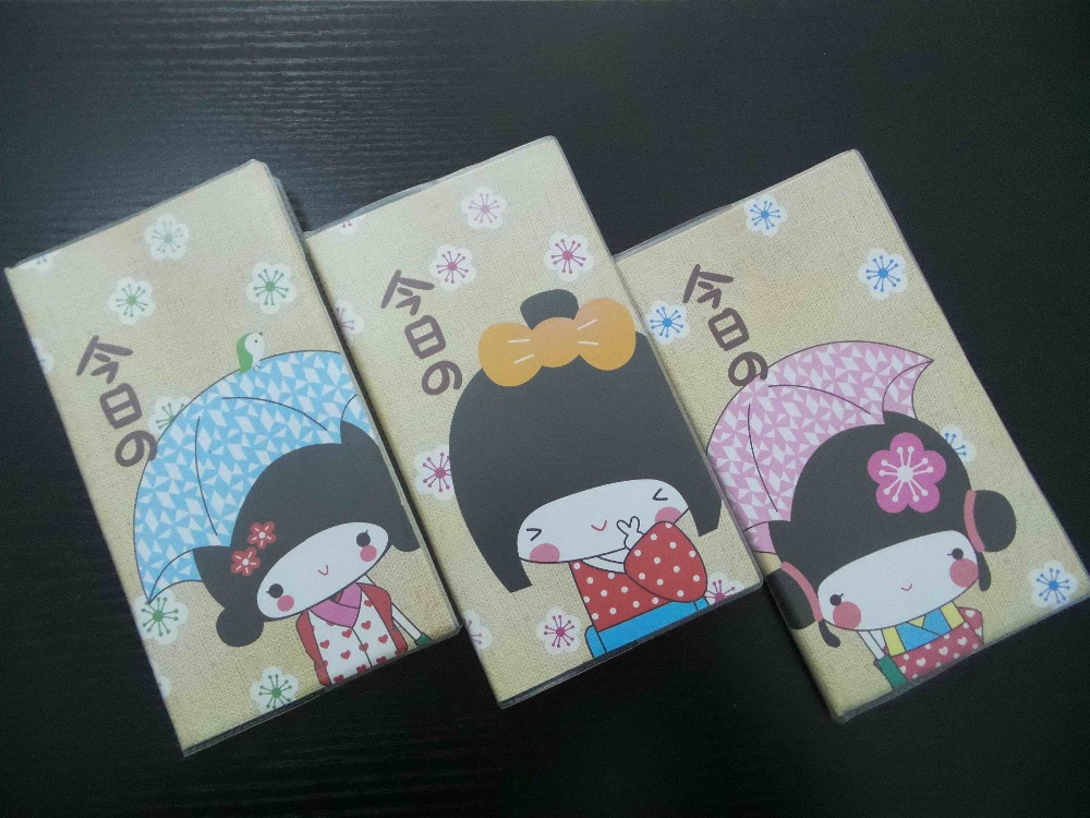 प्यारा मिनी लवली फैशनेबल जापानी शैली डायरी नोटबुक 3pcs / सेट स्कूल आपूर्ति कार्यालय स्टेशनरी नोटपैड प्लानर स्केचबुक