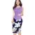 Mulheres verão sem mangas botão flare fantaist print floral elegante peplum bodycon lápis vestido de festa formal escritório trabalho negócio