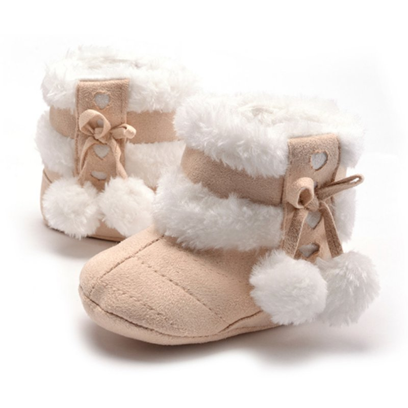 601ae30eb Cute Snow Cotton Warm 4 Color Available Infant Soft Soled Newborn ...