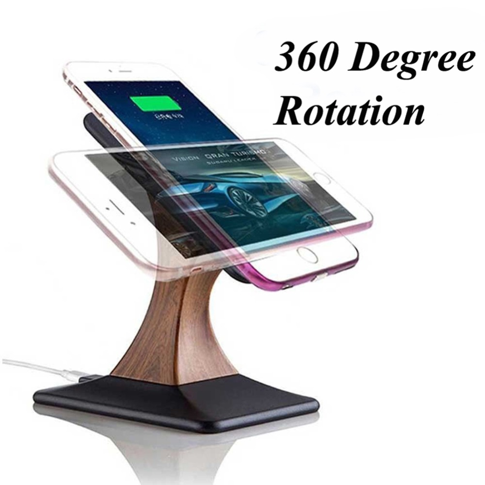 phone Charging holder Stand QI Wireless Charger 10W for iPhone XS Max XR 8 Plus Samsung Galaxy S7 Note 9 Fast Wireless Charging in Mobile Phone Chargers from Cellphones Telecommunications
