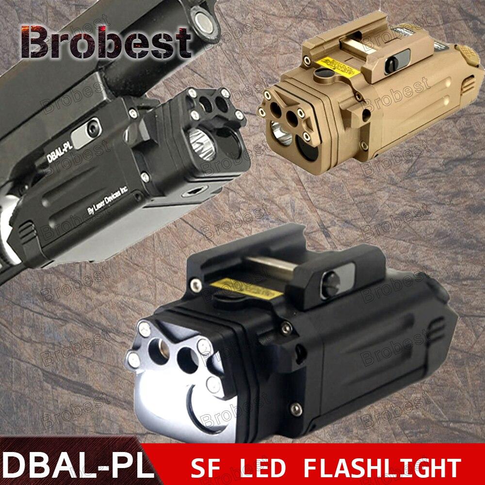 DBAL-PL Tactique IR Laser Lumière Combo Stroboscopique Arme Légère LED Pistolet Tac lampe de Poche Avec Laser Rouge NV Illuminateur