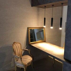 Image 5 - Led 펜 던 트 램프 디 밍이 가능한 조명 주방 섬 다이닝 룸 숍 바 카운터 장식 실린더 파이프 매달려 조명