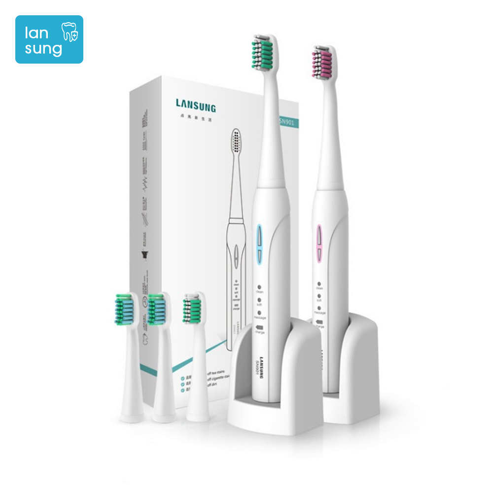 Lansung Toothbrush electric toothbrush Sonicare Rechargeable Electric Tooth Brush Escova De Dente Eletrica Oral Hygiene brush  4 lansung oral hygiene rechargeable ultrasonic electric toothbrush sonic teeth tooth brush electronic toothbrushes sonicare brush