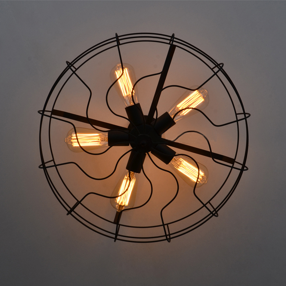 Creative industrial vintageretro ceiling fan style led ceiling creative industrial vintageretro ceiling fan style led ceiling lighte275 socket110240vparlourbedroomcafebar application in ceiling lights from aloadofball Images