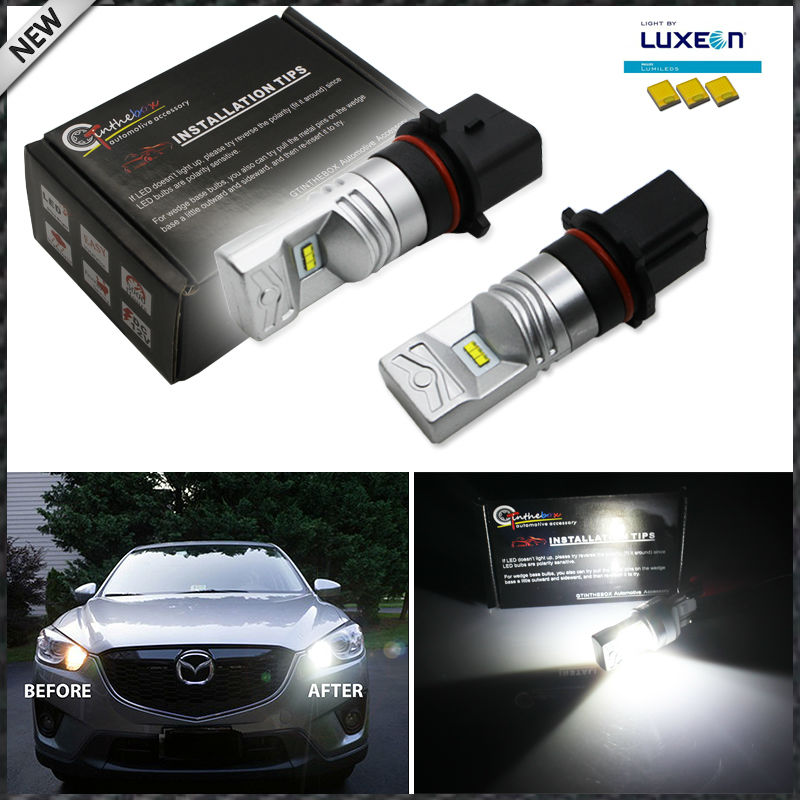 Ijdm 6000k white powered by luxen led p13w psx26w bulbs for car mazda cx 5 daytime running lights in signal lamp from automobiles motorcycles on
