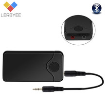 Lerbyee B18 Wireless Audio Adapter 3.5mm Bluetooth 4.0 Receiver & Transmitter 2in1 Audio Input And Output for Earphone TV(China)