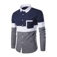 Novelty Boy Patchwork Blusa Tide Pocket Decorate Long Blouse Rock Boys Club Clothing High Quality Denim