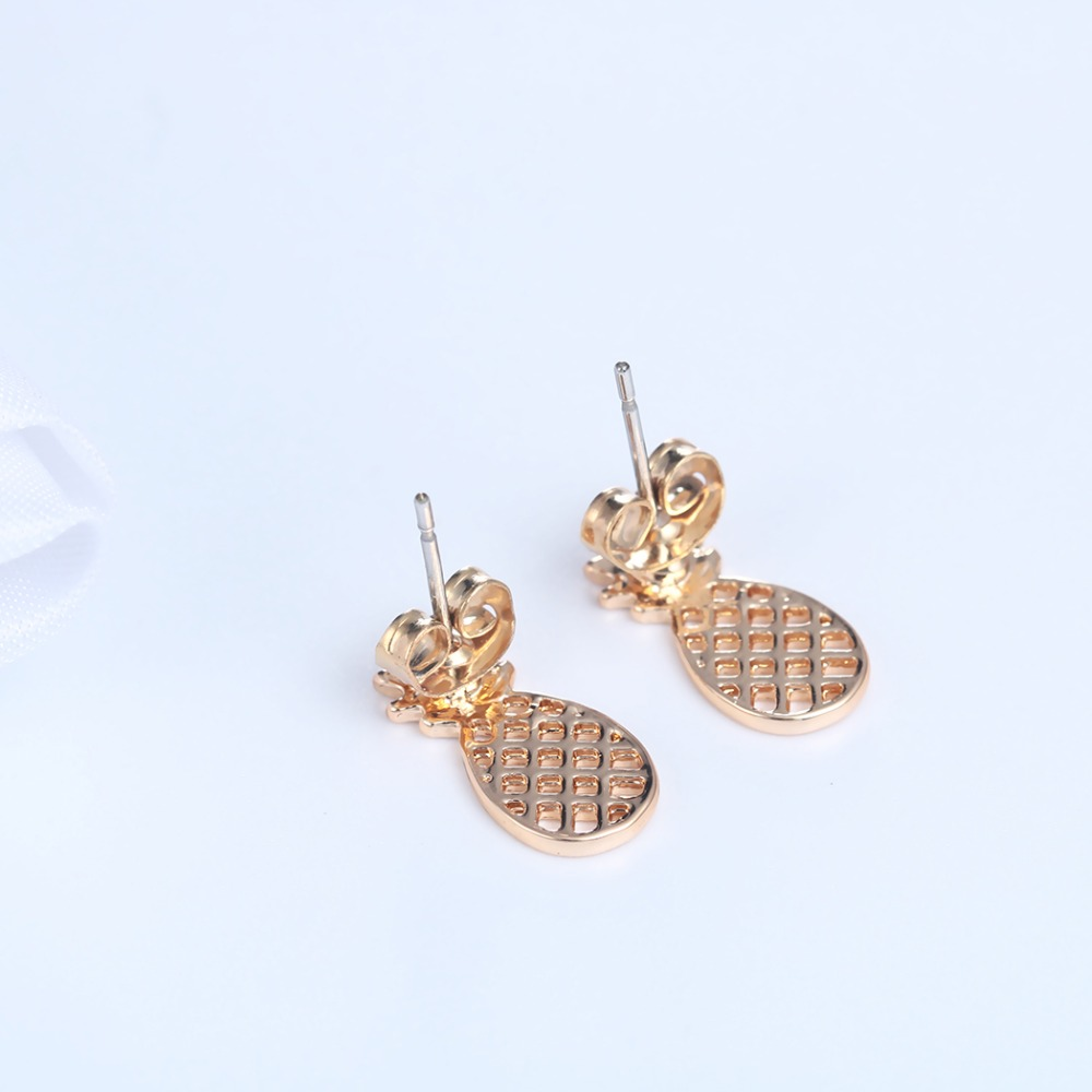 Lot Hollow Pineapple Stud Earrings In Gold And Silver Boho Tropical  Fruit Jewelry For Girlsin Stud Earrings From Jewelry & Accessories On