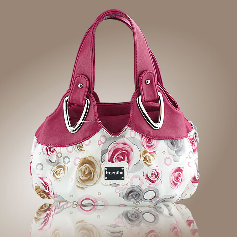 A Lady Flower Top-Handle Bags Tote Bags For Women Purses And Handbags Women Leather Handbags