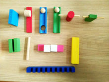 Baby Wood 12 colors 120 tablets Domino contains set 10 pcs Domino's accessories Children Montessori Wooden Building Blocks Toys 120 dominoes in 12 colors contains a set of 10 domino accessories kids wooden domino building blocks toys classic montessori toy