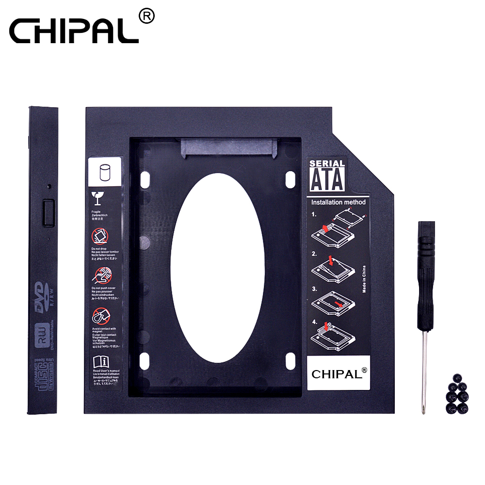 CHIPAL Plastic 2nd Second HDD Caddy 9.5mm SATA 3.0 for 2.5'' SSD Case Hard Drive Enclosure for Laptop DVD CD-ROM Optibay Adapter(China)