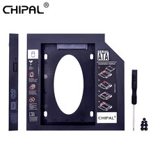 CHIPAL plastikowa 2-sekundowa HDD Caddy 9.5mm SATA 3.0 na 2.5 ''obudowa na ssd obudowa dysku twardego na laptopa DVD CD-ROM Optibay Adapter(China)