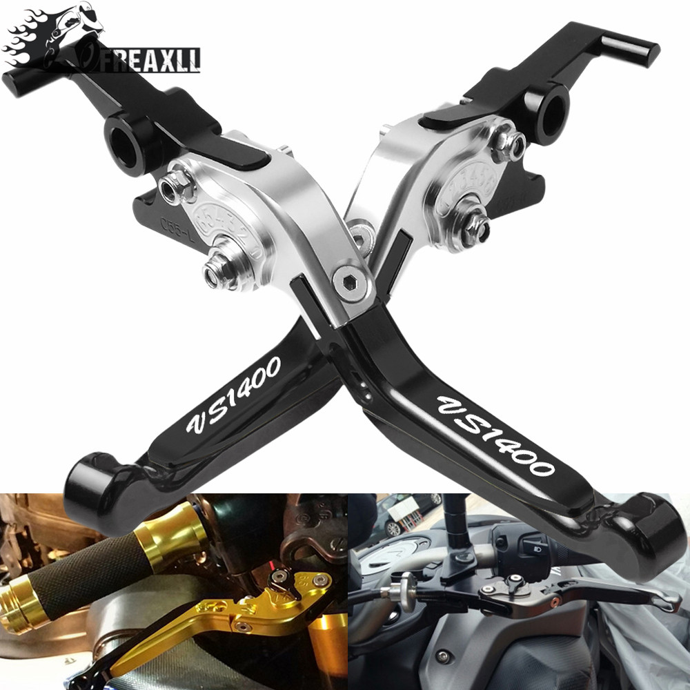 For <font><b>Suzuki</b></font> <font><b>VS1400</b></font> GLPH-GLPV 1987-1999 Adjustable Extendable Folding CNC Motorcycle Accessories Brake Clutch Levers Handle Grips image