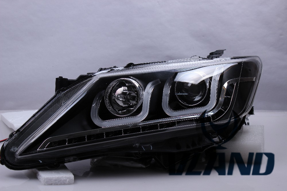 Free shipping for car Head lamp for Toyota Camry headlight 2012-2014 LED headlight with DRL H7 Xenon lamp special car trunk mats for toyota all models corolla camry rav4 auris prius yalis avensis 2014 accessories car styling auto