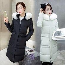 2016 thickening JACKET LADIES plus size women's down parka fashion large fur collar winter coat female slim long outerwear women