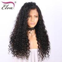 Elva Hair Kinky Straight Lace Front Human Hair Wigs For Black Women Brazilian Glueless Lace Wig