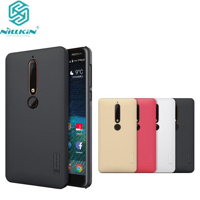 pretty nice 7afa6 67601 US $57.52 5% OFF 10pcs/lot wholesale Nillkin Super Frosted Shield Case For  2018 Nokia 6 PC Hard Back Cover Case For Nokia 6 2018 TA 1054 case-in ...