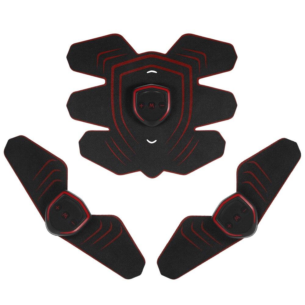 цена на Abdominal Toning Belt AB Muscle Toner Trainer Gear for Abdomen Arm Thigh Waist USB Rechargable Abs Training Fitness Machine