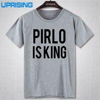 PIRLO IS KING PRINTED MENS T SHIRT JUVENTUS ANDREA ITALY CALCIO FUNNY FOOTBALL TShirt Tee Shirt