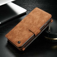CaseMe Original New For Apple Iphone 6plus 6splus Case 2 In 1 Genuine Leather Wallet Bag
