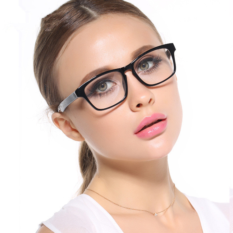 aliexpresscom buy big frame black glasses stylish eyewear women and men eyeglasses myopia spectacle student fashion prescription glasses frame from