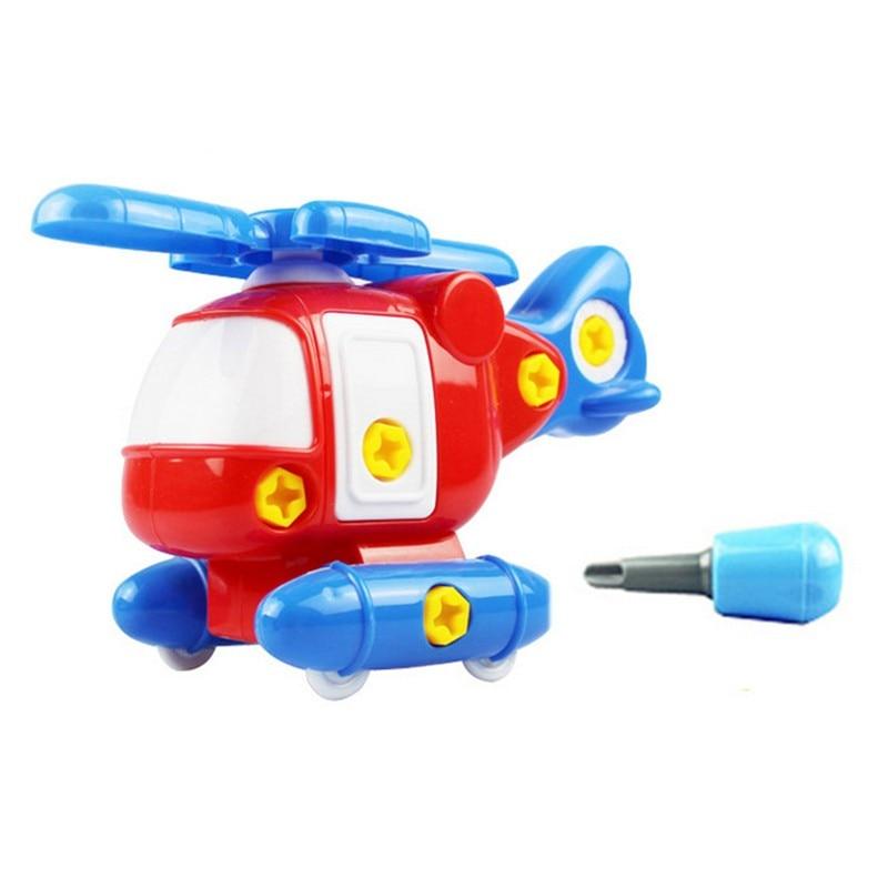Kinder Baby Früh Lernen Puzzle Pädagogisches Spielzeug Flugzeug Kinder Demontage Montage Cartoon Spielzeug Flugzeug Puzzles