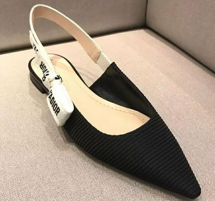 Plus Size 34 40 Women Sandals Pointed Toe pu 4cm High Heels Women Pumps Wedding Shoes Woman Elastic band Bowtie