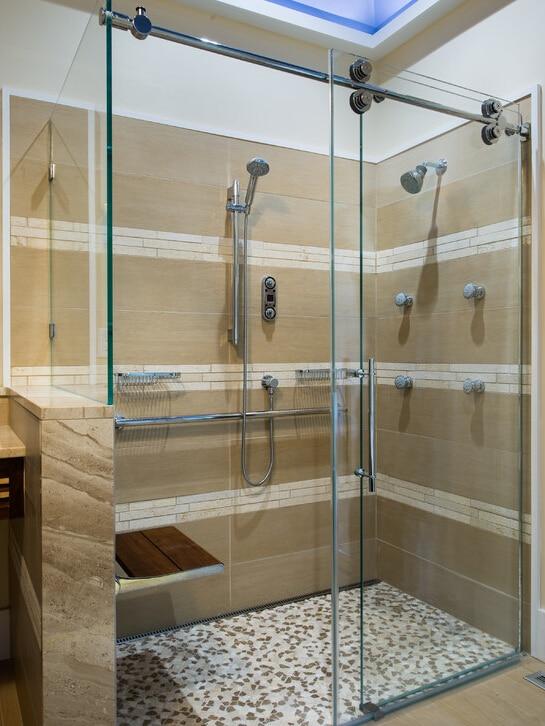 5 Foot Shower Doors.Us 115 0 Diyhd 5ft 6 6ft Stainless Steel Twin Roller Shower Door Frameless Sliding Shower Door Hardware With 90 Degree Return Panel In Bath Hardware