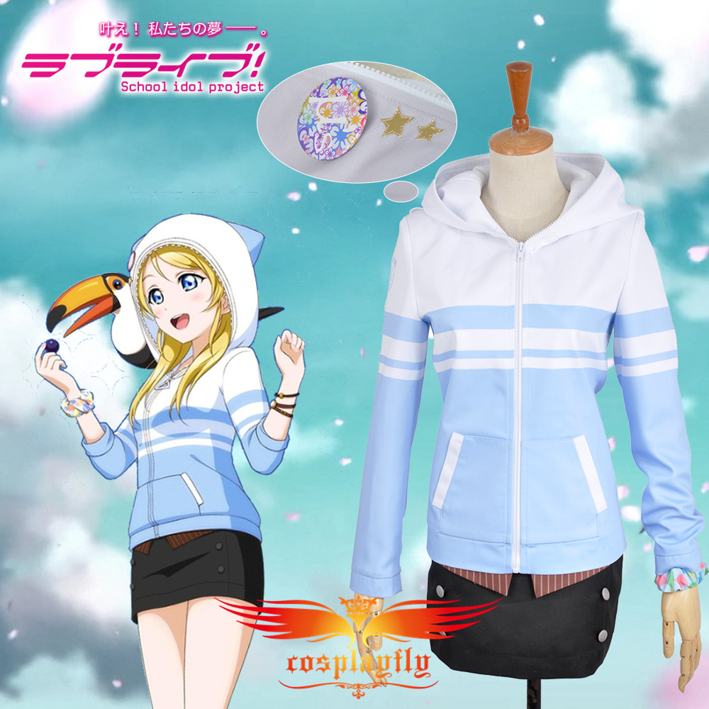 Love Live! Eli Ayase Unawakened Animal Sportswear Cosplay Costume Custom Made Outfit Clothing For Adult