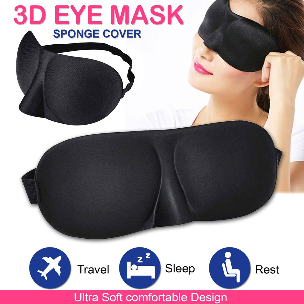 Romantic Game Silk Sleep Eye Mask Padded Shade Cover Travel Relax Aid Blindfold