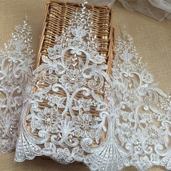 a29b58747b Marfil boda decoración francés encaje boda Velo con el coche con bordado de  encaje