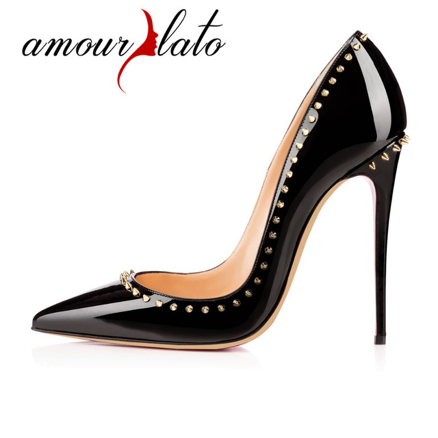 84076b0f27b5 Amourplato Women s 12cm High Quality Red High Heel Sexy Pointed Toe Pumps  Wedding Shoes For Woman Real Picture