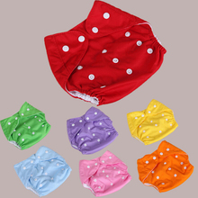 10pcs/lot Baby Diapers Infant Cloth Diaper Reusable Nappies Washable Diaper Cover Adjustable Size 7 Colors Colorful Style
