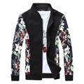 2017 spring new style Men's fashion leisure cotton jackets  Men Flower color high quality coat jacket 4 color big size M-5XL