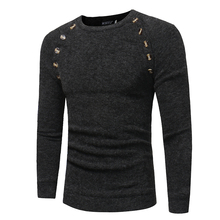 Sweater Pullover Men 2018 Male Brand Casual Slim Sweaters Men Button Splicing Solid Hedging Turtleneck Men'S Sweater XXL