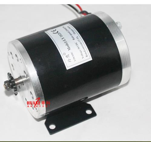 36V 500W MY1020 Permanent Magnet Brush Motor High Speed 25H / T8F Sprocket Electric Vehicle / Scooter / DIY Motor