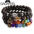 Gagafeel lava pedra buddha contas pulseiras bangles pulseiras para as mulheres e homens jóias finas 2016 lava pulseiras bracciali