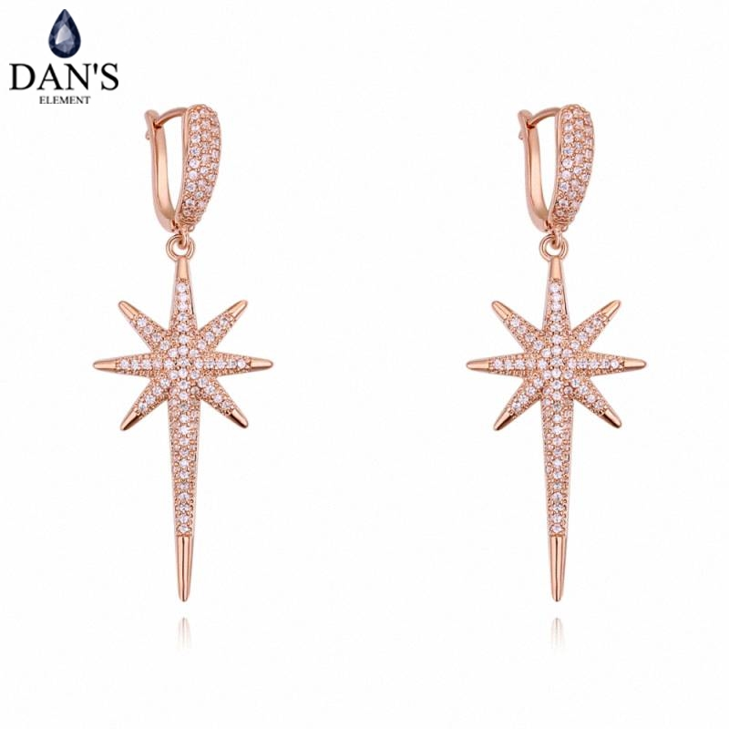 DANS 3 Colors Real Austrian crystals Stud earrings for women Earrings s New Sale Hot Round 129584