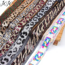 JOJO BOWS 1y Printed Encryption Sequin Lace Ribbon For Needlework Lace Trim Fabric For Sewing Craft Decor Costume Hat Decoration encryption for video