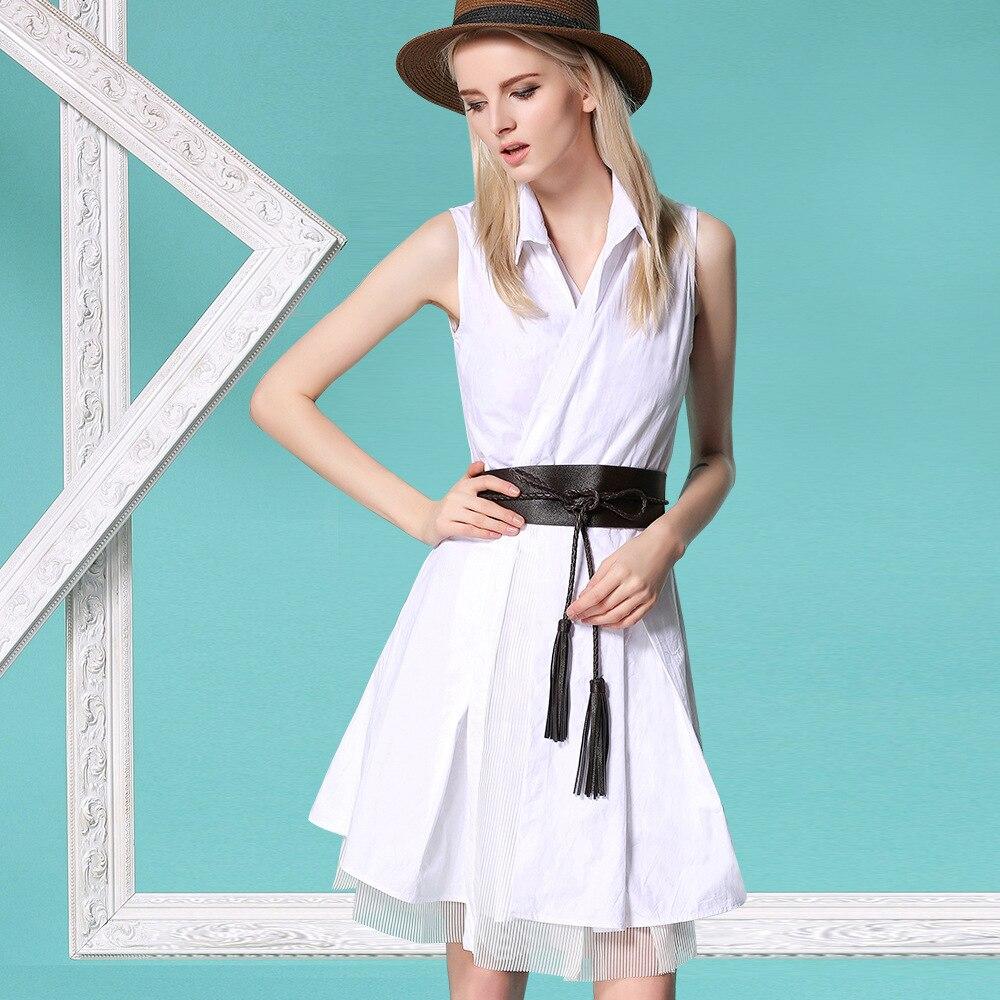 sleeveless white cotton shirt style dress Christmas womens dresses new arrival 2017 ladies dresses pencil slim fit office dress